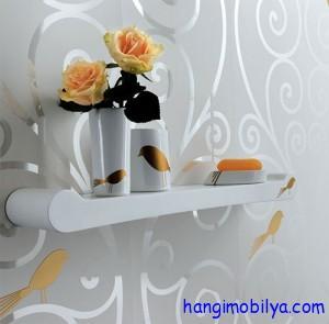 banyo duvar kagidi 300x295 Banyo ve Mutfakta Duvar Kağıdı Seçimi
