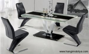 cam yemek masasi modelleri1 300x182 Cam Yemek Masası Modelleri