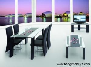cam yemek masasi modelleri2 300x223 Cam Yemek Masası Modelleri
