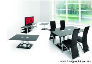 cam yemek masasi modelleri5 300x208 Cam Yemek Masası Modelleri
