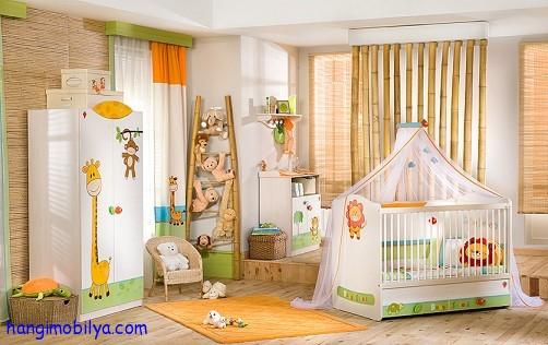 Çilek Baby Safari Yatak Odası Modelleri