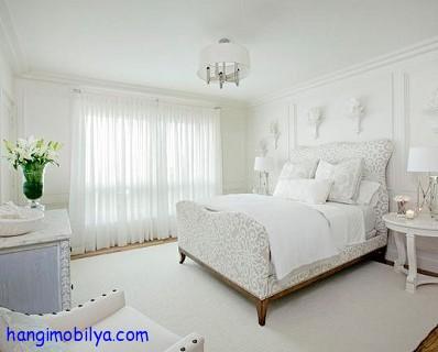 Beyaz Yatak Odası Dekorasyonu