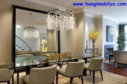 Yemek Odası ve Dekoratif Ayna Kullanımı