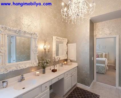 banyo dekorasyonunda duvar kagidi kullanimi01 Banyo Dekorasyonunda Duvar Kağıdı Kullanımı