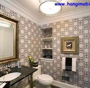 banyo dekorasyonunda duvar kagidi kullanimi06 300x293 Banyo Dekorasyonunda Duvar Kağıdı Kullanımı
