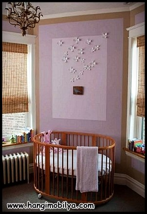 Sade çocuk odası ve beşik