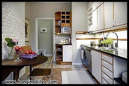 Şık iskandınav tarzı mutfak mobilyası
