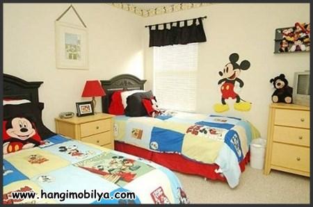 Mickey Mouse çocuk odası dekorasyonu